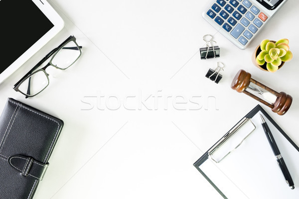 Top view business office desk with copy space hero header image  Stock photo © snowing