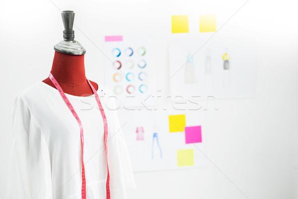 ázsiai szabó ruhadarab terv próbababa műhely Stock fotó © snowing