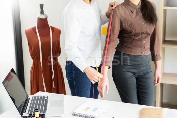 Divat designer mér testrész nők szabó Stock fotó © snowing