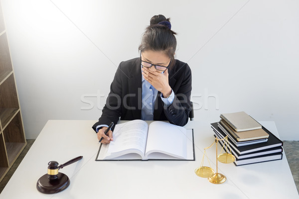 Scales of justice and Follow the law. Professional lawyer busine Stock photo © snowing