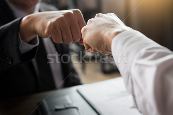Business Partners Giving Fist Bump to  commitment Greeting Start Stock photo © snowing