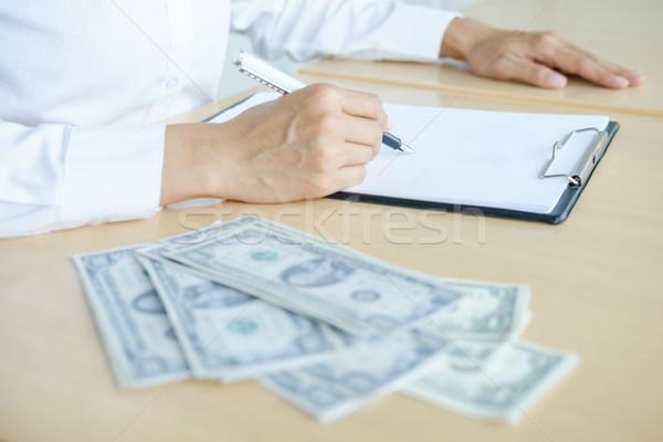 Contador banqueiro saldo investimento economia Foto stock © snowing