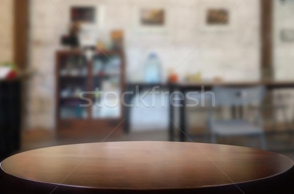 Lege houten tafel kamer product montage Stockfoto © snowing