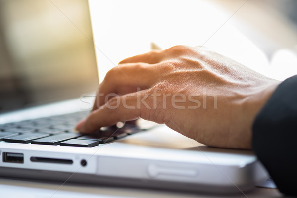 Close-up of typing male hands Stock photo © snowing