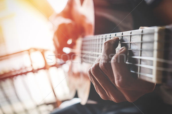 boys hand with a guitar Stock photo © snowing