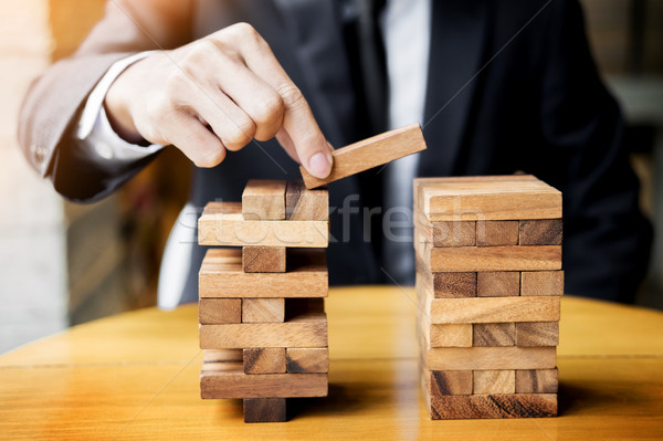 Planning, risk and wealth strategy in business concept, business Stock photo © snowing