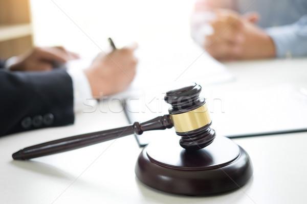 судья молоток Адвокаты совет правовой прав Сток-фото © snowing