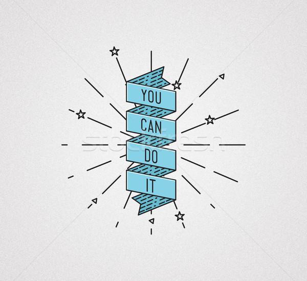 Può illustrazione motivazionale citare Foto d'archivio © softulka