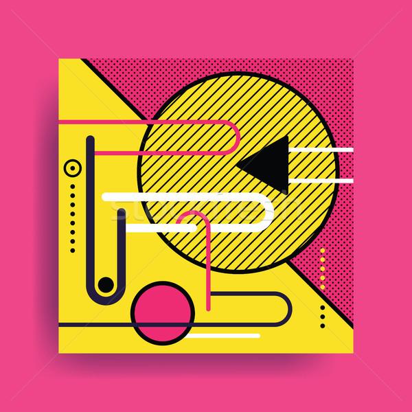 Renkli eğilim geometrik desen parlak bloklar renk Stok fotoğraf © softulka