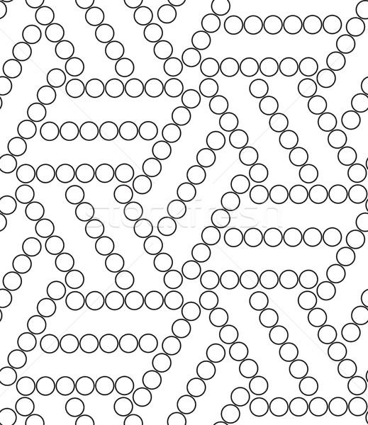 Vektör geometrik modern daire doku Stok fotoğraf © softulka