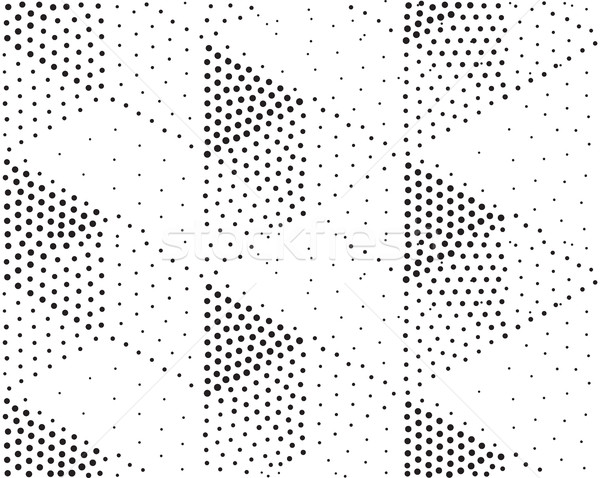 Vector geometric seamless pattern. Repeating abstract dots Stock photo © softulka