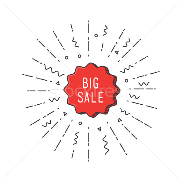 Big sale shining banner, colorful background in flat style Stock photo © softulka