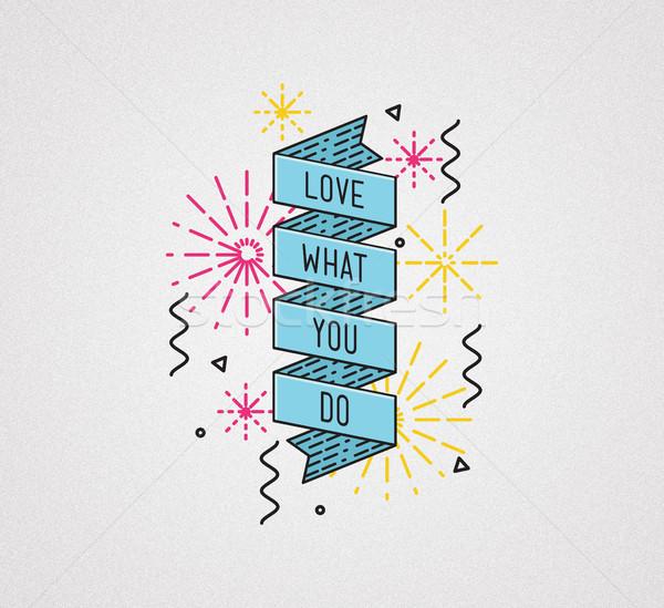 Liebe welche Farbe inspirierend Illustration motivierend Stock foto © softulka