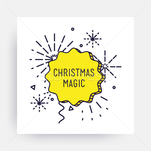Alegre natal feliz ano novo ano novo projeto linear Foto stock © softulka