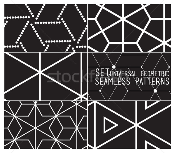 Set of universal vector geometric seamless pattern Stock photo © softulka