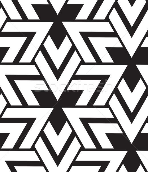 ベクトル 幾何学的な 現代 三角形 テクスチャ ストックフォト © softulka