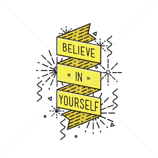 Você mesmo inspirado motivacional citações cartaz Foto stock © softulka