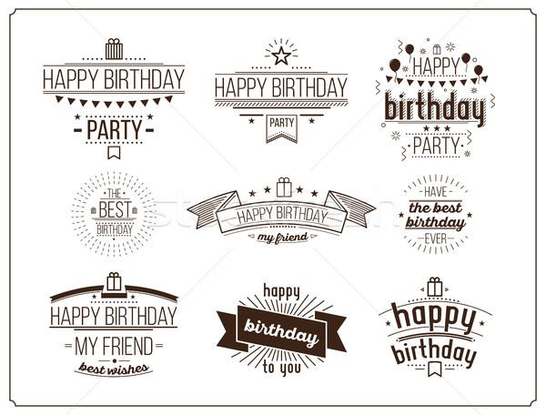 Festive Happy Birthday set Stock photo © softulka