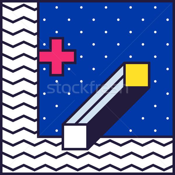 80s stil renkli dekoratif duvar kağıdı Stok fotoğraf © softulka