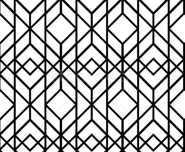 вектора бесшовный геометрическим рисунком аннотация классический черно белые Сток-фото © softulka