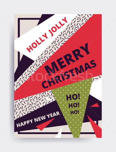 Merry christmas New Year design Stock photo © softulka