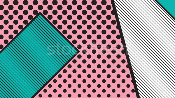 black and white pop art geometric pattern Stock photo © softulka