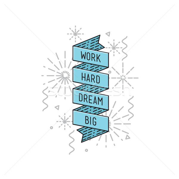 作業 夢 ビッグ インスピレーション やる気を起こさせる ストックフォト © softulka