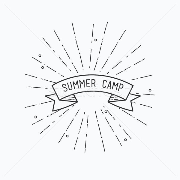 Yaz kampı ilham verici motivasyon tırnak işareti poster Stok fotoğraf © softulka