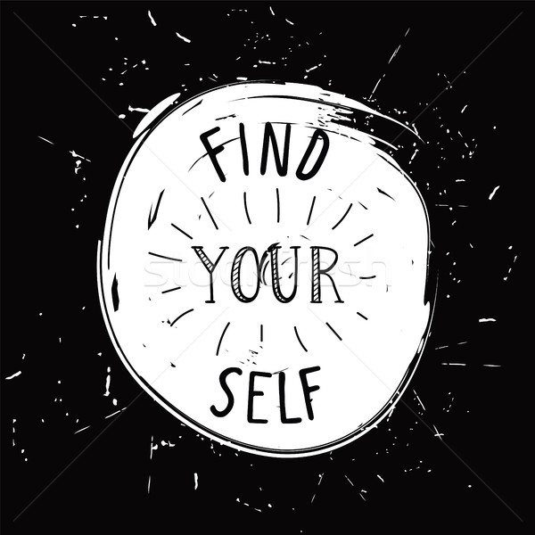 Encontrar usted mismo simple juvenil motivacional anunciante Foto stock © softulka