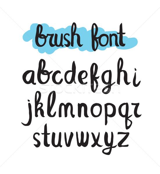 модный щетка шрифт красочный универсальный футуристический Сток-фото © softulka