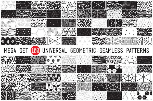 Cent universel différent géométrique 100 Photo stock © softulka