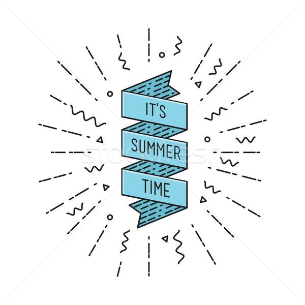 Nyár idő inspiráló motivációs idézetek poszter Stock fotó © softulka