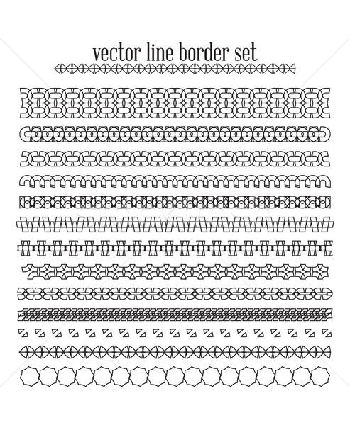 Vector lines, border divides set Stock photo © softulka