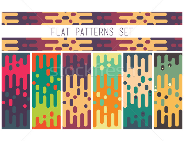 Universal seamless abstract pattern doodle geometric lines in re Stock photo © softulka