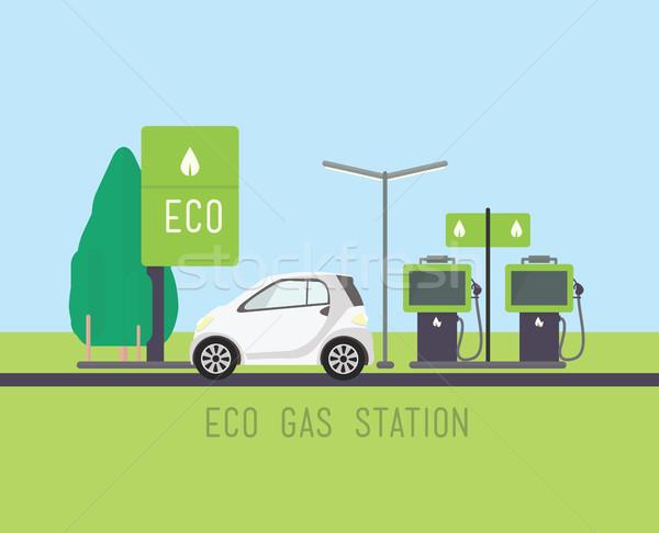 Vecteur eco illustration design vert énergie Photo stock © softulka