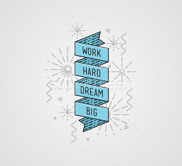 作業 夢 ビッグ インスピレーション 実例 やる気を起こさせる ストックフォト © softulka