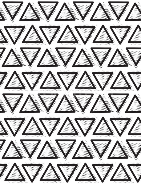 Vector geometric seamless pattern. Repeating abstract triangle Stock photo © softulka