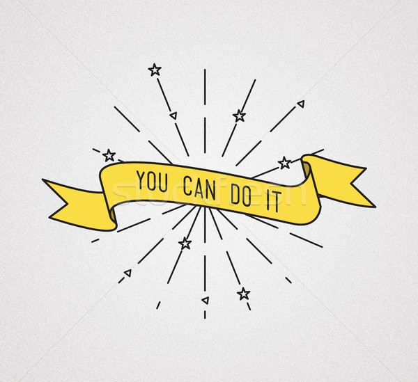 You can do it. Inspirational illustration, motivational quotes Stock photo © softulka