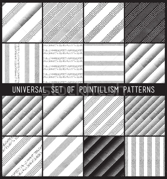 Vector geometric seamless pattern set. Repeating striped line ab Stock photo © softulka