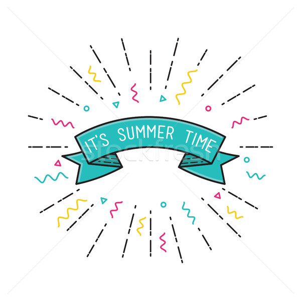 It is summer time. Vector poster flat design Stock photo © softulka