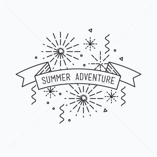 Summer adventure. Inspirational vector illustration Stock photo © softulka