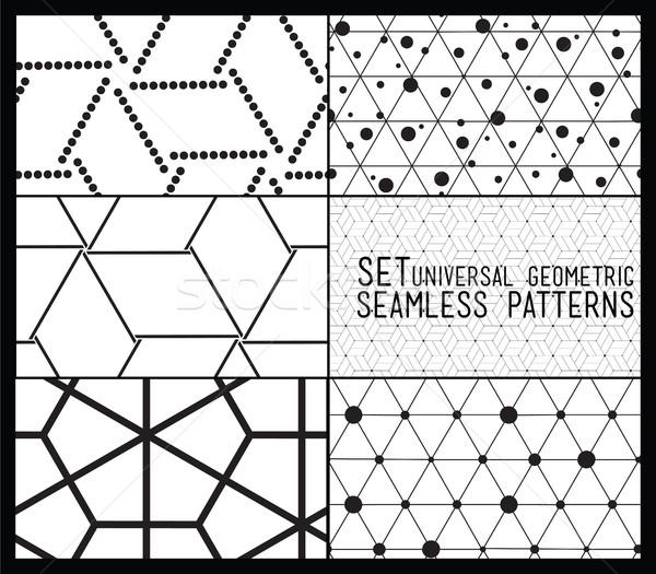 Ayarlamak evrensel vektör geometrik Stok fotoğraf © softulka