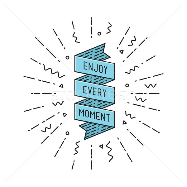 Enjoy every moment, flat design thin line banner Stock photo © softulka