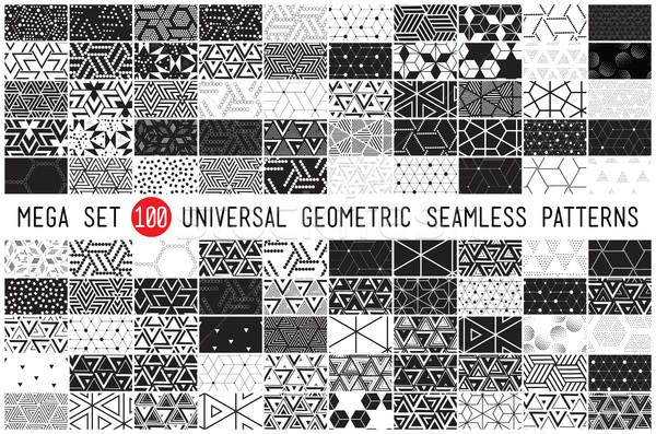 Сток-фото: сто · универсальный · различный · геометрический · 100