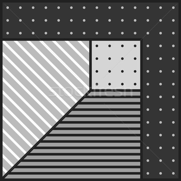 Stile in bianco e nero decorativo wallpaper Foto d'archivio © softulka