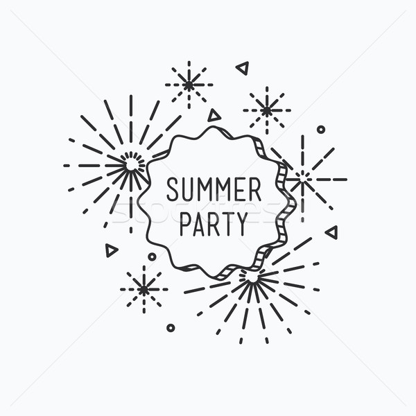 Summer party. Inspirational vector illustration Stock photo © softulka