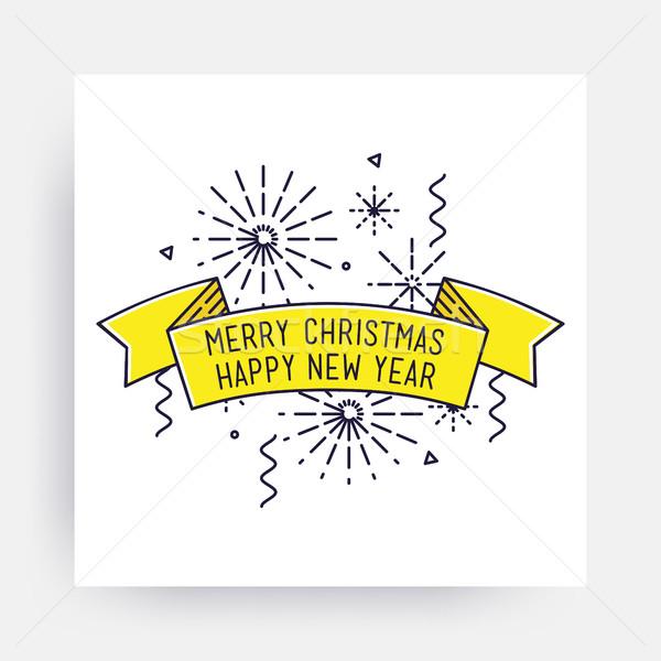Merry Christmas Happy New Year Stock photo © softulka