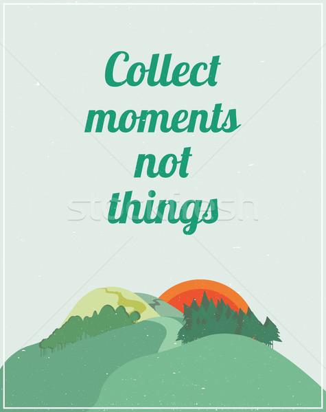 Motivacional cartaz colorido natureza paisagem citar Foto stock © softulka