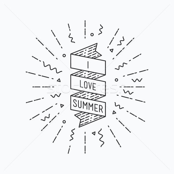 I love summer. Inspirational vector illustration Stock photo © softulka