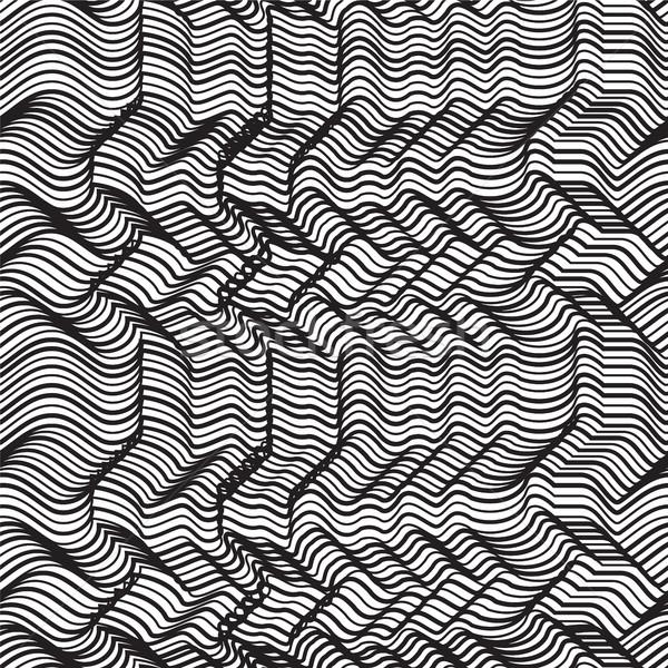 Vettore geometrica strisce abstract Foto d'archivio © softulka